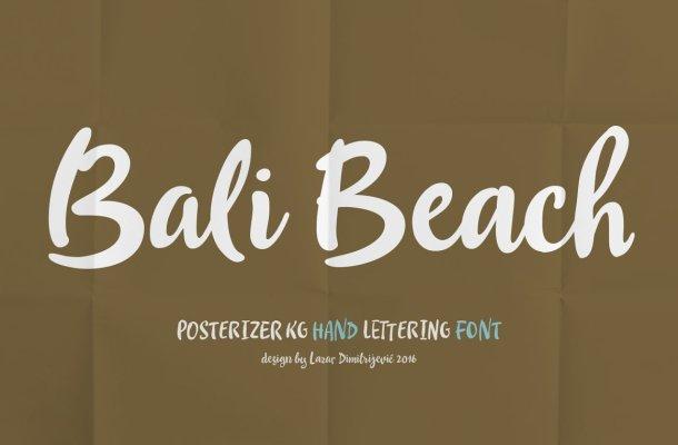 Bali Beach Script Font