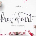 Braveheart Script Font