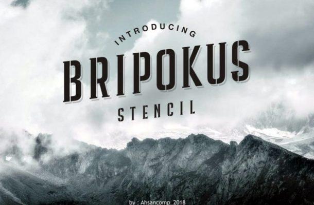 Bripokus Stencil Font