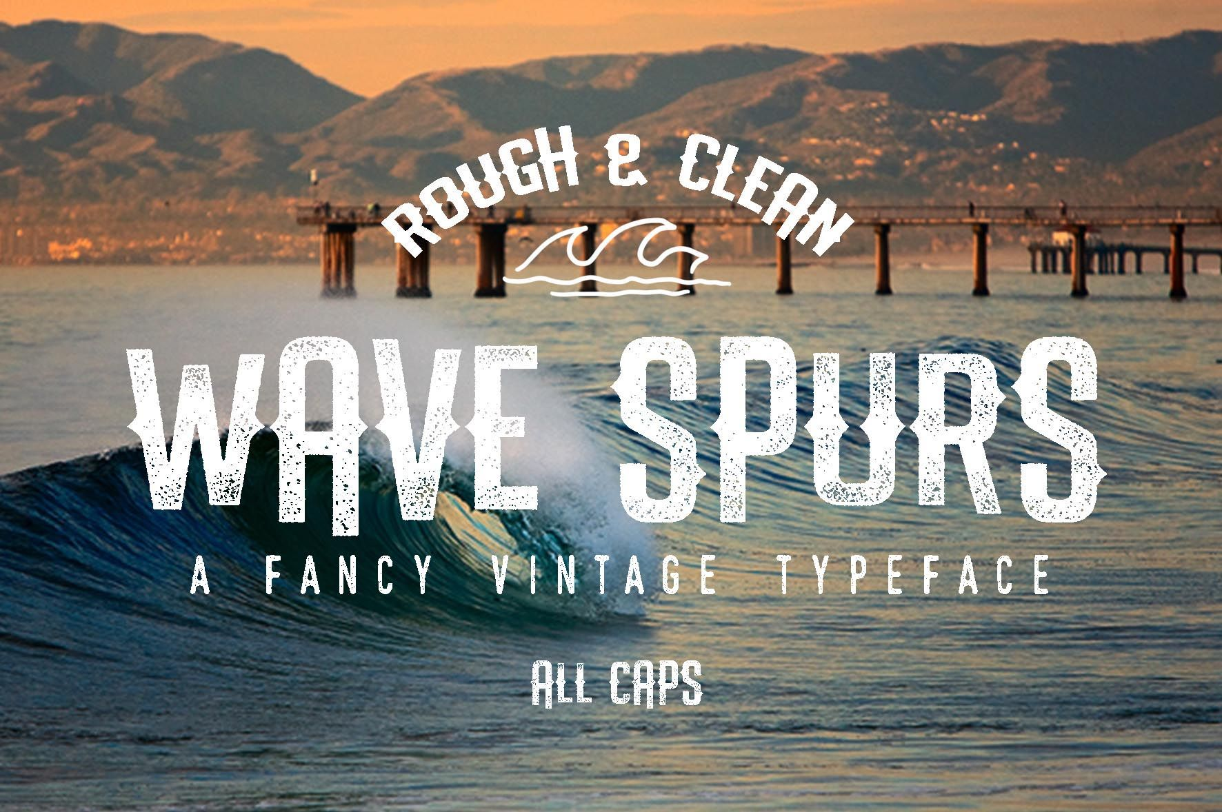 The-Wave-Spursf-Font