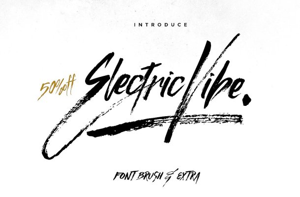 Electric Vibe Brush Font