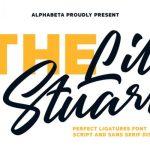 Lil Stuart Ligature Font