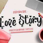 Love Story Brush Font