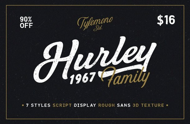 Hurley 1967 Font Family