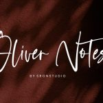 Oliver Notes Handwritten Font