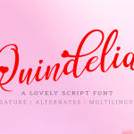 Quindelia Script Font
