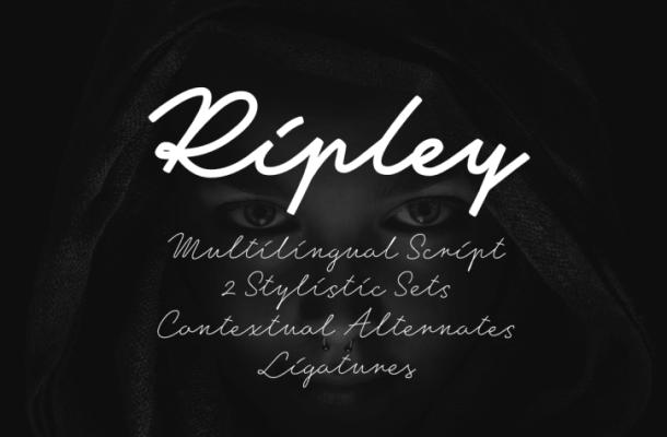 Ripley Script Font