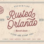 Rusted Orlando Typeface