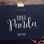 Tired Panda Script Font