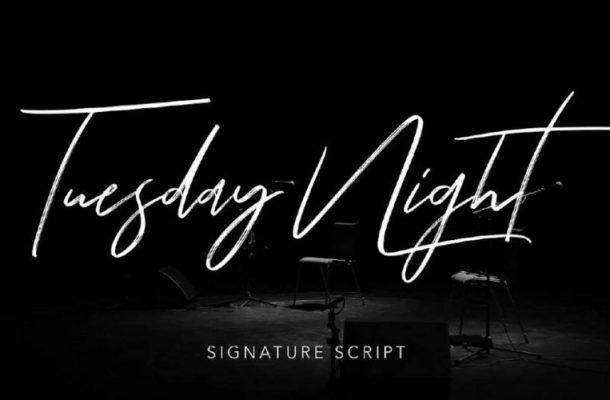 Tuesday Night Signature Font