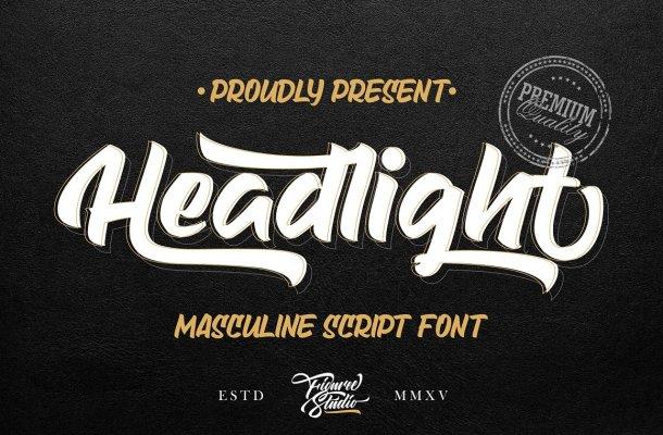 Headlight Script Font