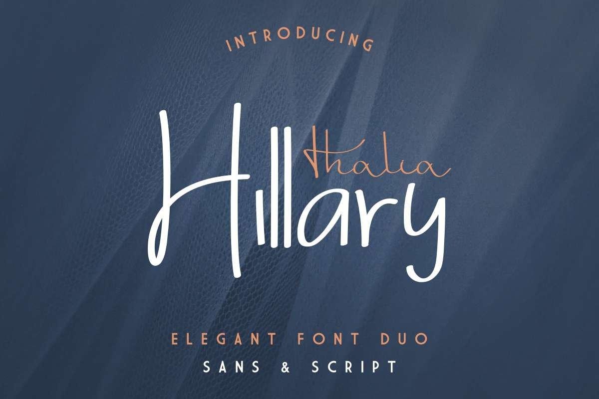 Thalia-Hillary-Font
