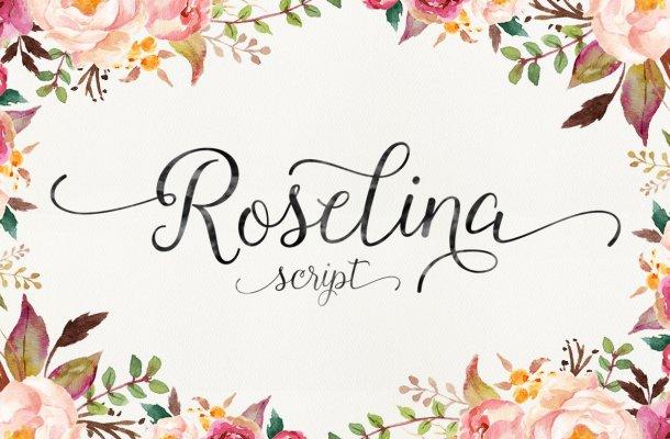 Roselina Script Font