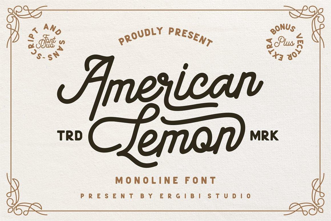 American-Lemon-Font