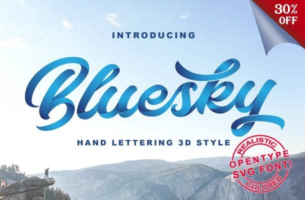 Bluesky Script Font