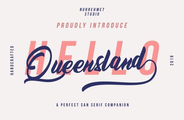 Queensland Script Font