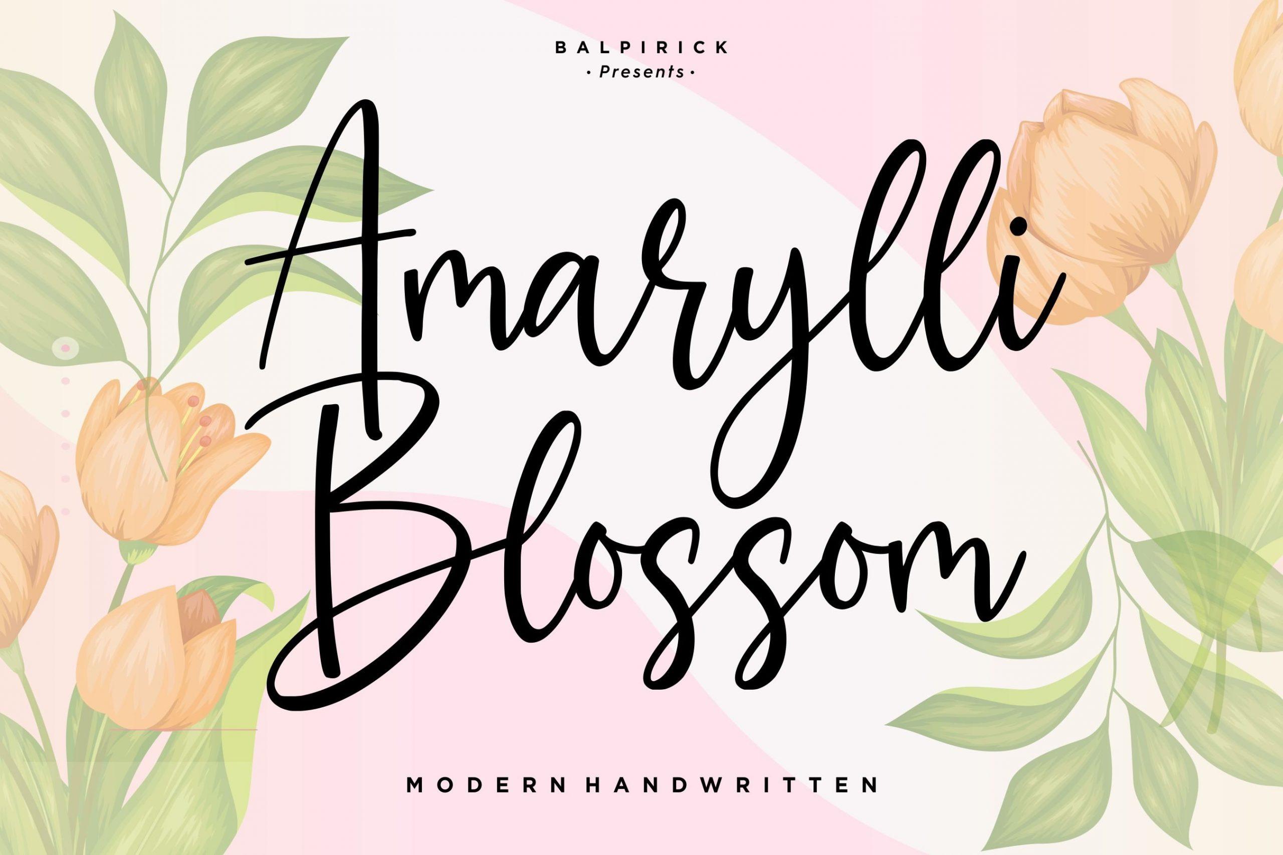 Amarylli-Blossom-Font