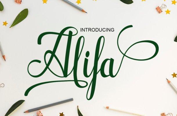 Alifa Script Font