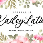 Kailey Latief Calligraphy Font