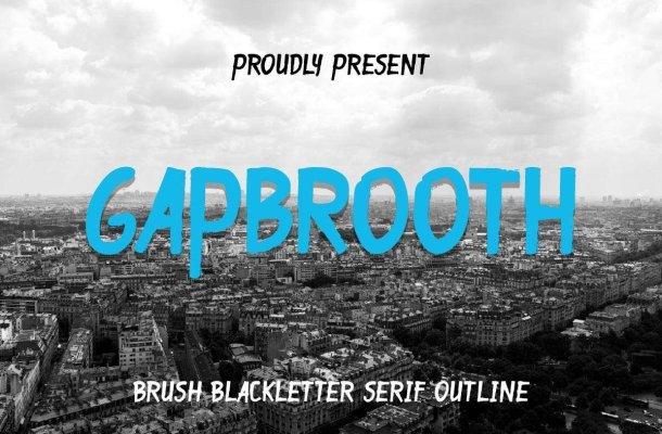 Gapbrooth Font Duo