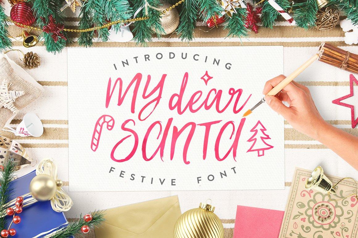 My-Dear-Santa-Font
