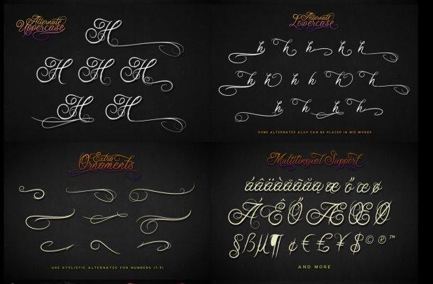 Ababil Script Font