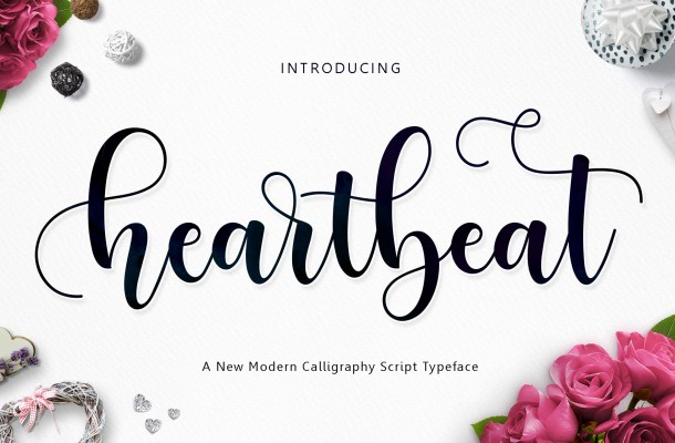 Heartbeat Calligraphy Font