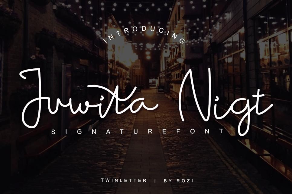 Juwita-Night-Font