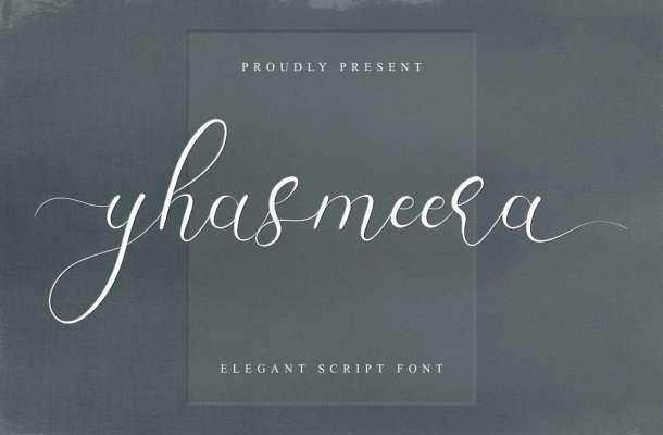 Yhasmeera Calligraphy Font