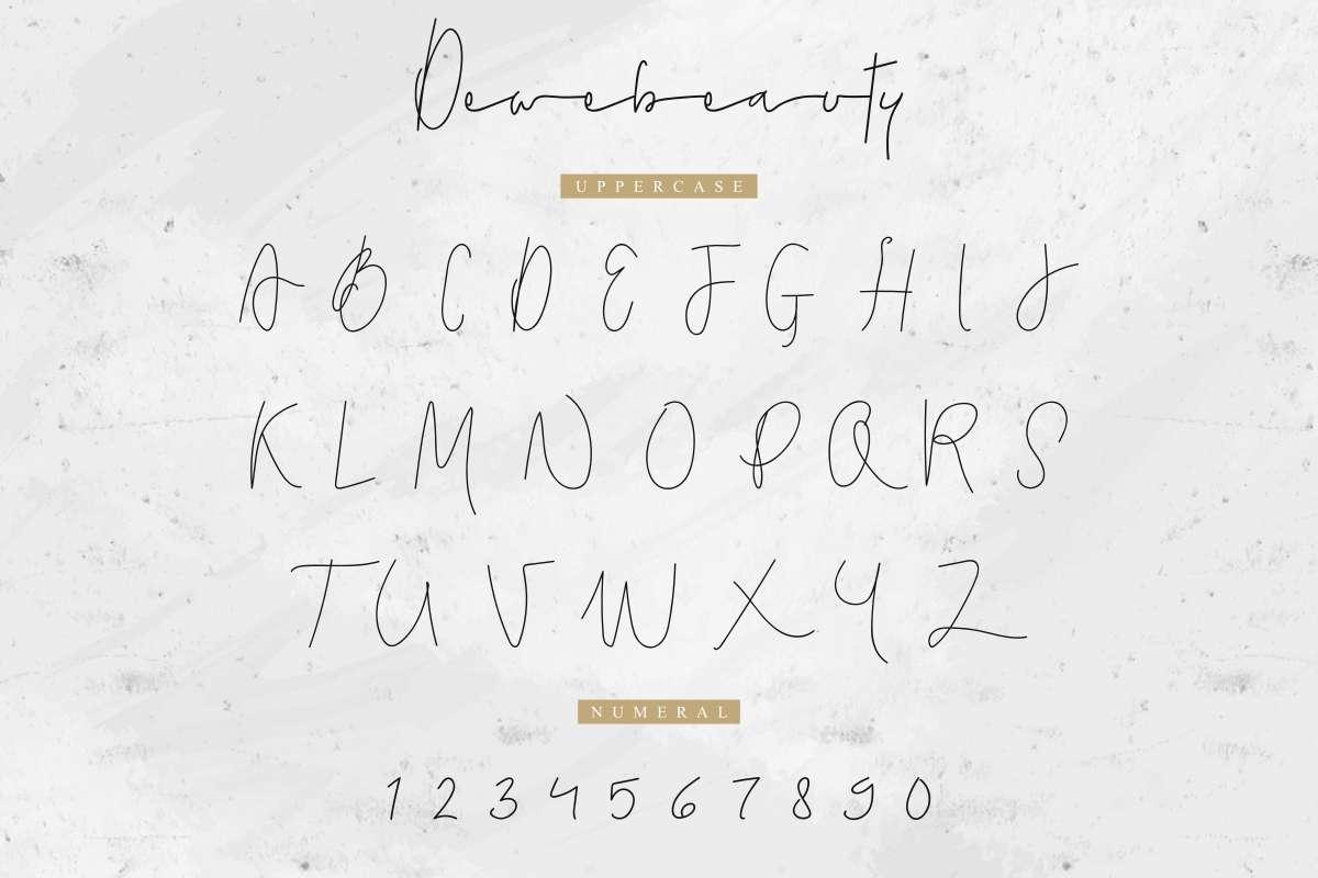 Dewebeauty-Font-3