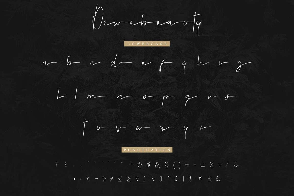Dewebeauty-Font-4