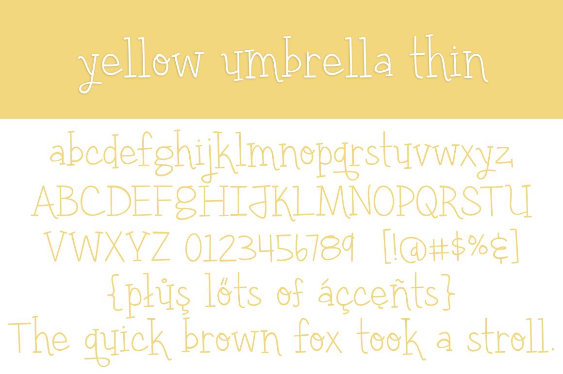 Yellow-Umbrella-Thin-Font-2