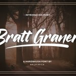 Bratt Graner Handbrush Font