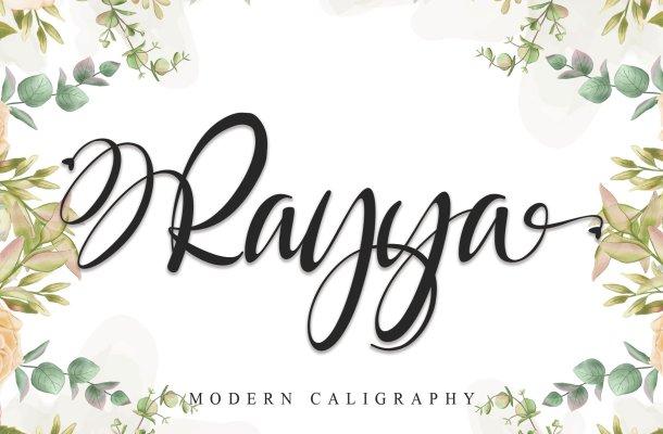 Rayya Calligraphy Font