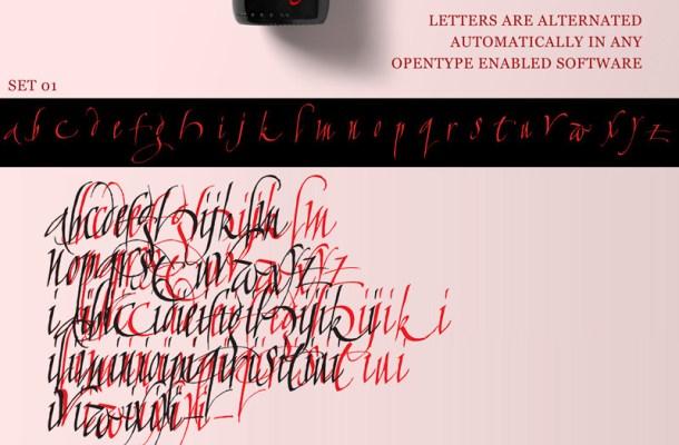 Calligraphunk Font