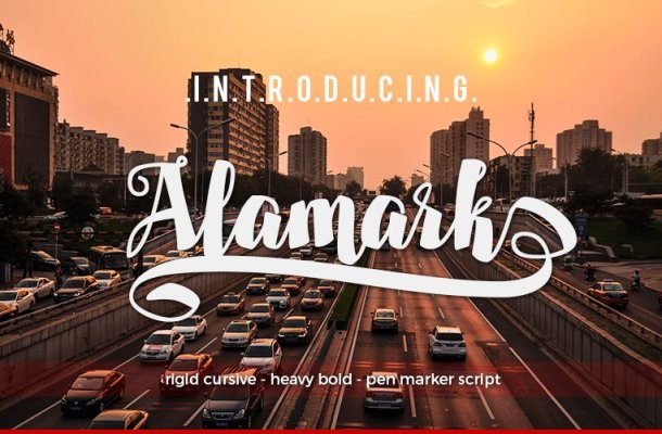 Alamark Script Font