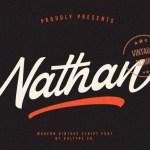 Nathan – Vintage Script Font