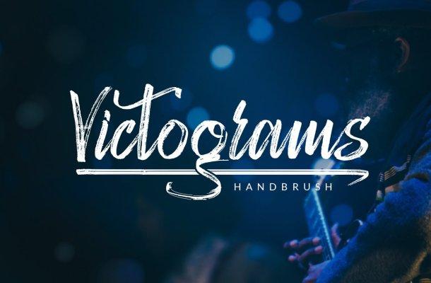 Victograms Handbrush Font