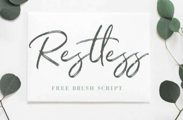 Restless Brush Font