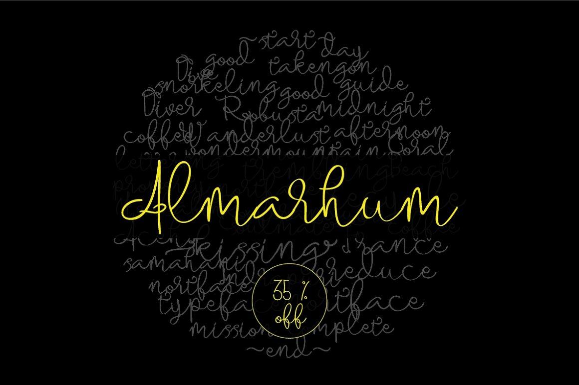 Almarhum-Font
