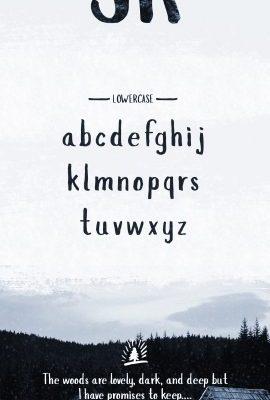 Slopes Brush Font