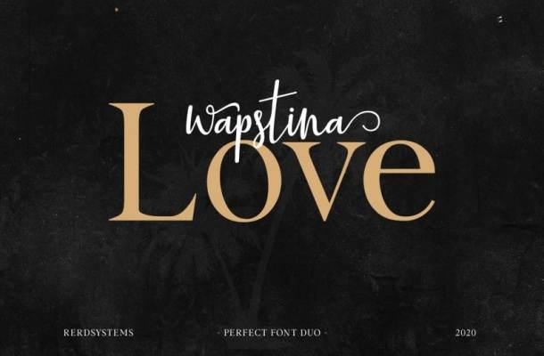 Wapstina Love Font Duo