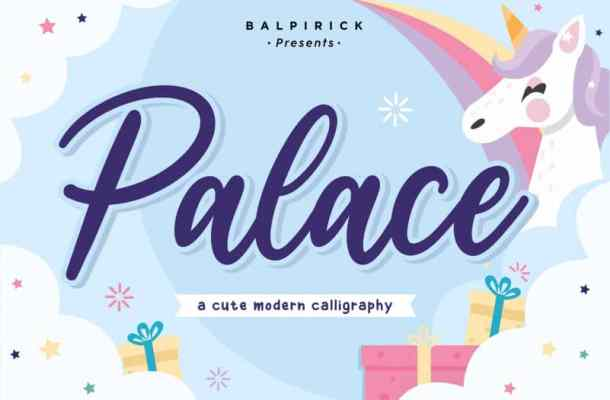 Palace Cute Calligraphy Font