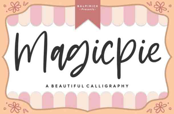 Magicpie Beautiful Calligraphy Font