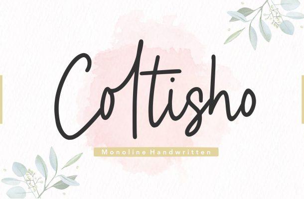 Coltisho Monoline Handwritten Font