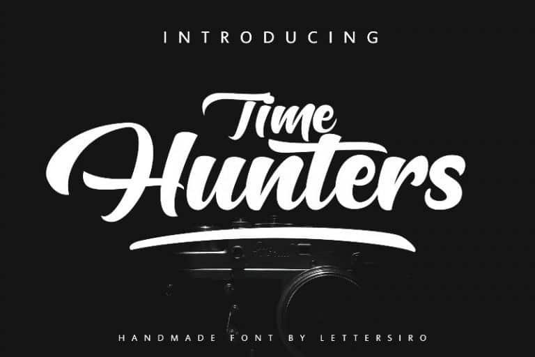 hunters-script-font