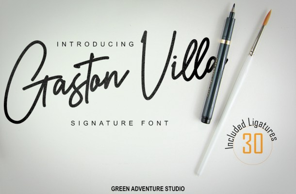 Gaston Villa Handwritten Font