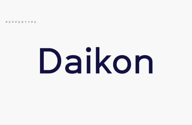 Daikon Sans Serif Font