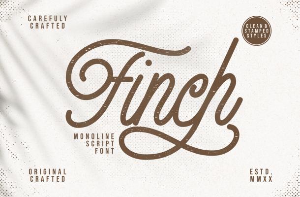 Finch Monoline Script Font