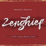 Zenghief Hand Brush Font